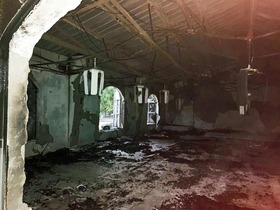 One of the burned Nigerien churches.