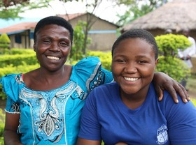 Susan (right) and the woman who cared for her while she recuperated at Susan's school.